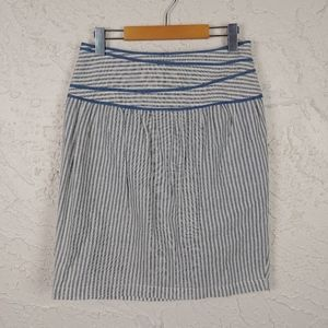 ANTHROPOLOGIE 4 Calm Seas Hype Linen Skirt: Size 4